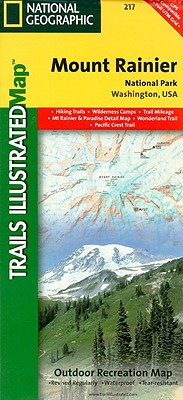 National Geographic Trails Illustrated Map Mount Rainier National Park